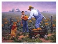 Grandpas Pumpkins Fine Art Print