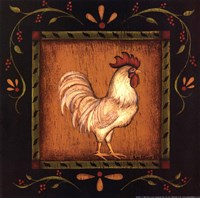 Square Rooster Right Fine Art Print