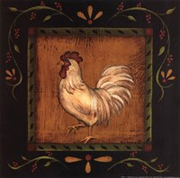 Square Rooster Left Fine Art Print