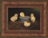 Chicks with Water Fine Art Print