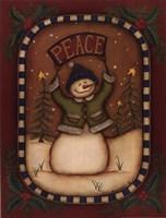 Peace Snowman Fine Art Print
