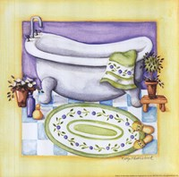 Yellow Bathroom - Tub Fine Art Print