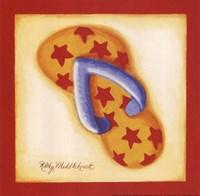 Red Flip Flop I Fine Art Print