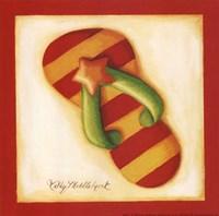 Red Flip Flop II Fine Art Print