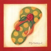 Red Flip Flop III Fine Art Print