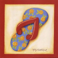 Red Flip Flop IV Fine Art Print