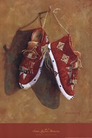 "Sioux Quilled Moccasins by Marty LeMessurier - 12"" x 18"""