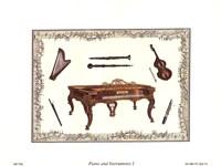 "Piano and Instuments I by Richard Henson - 8"" x 6"""