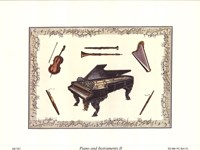 """Piano and Instruments II by Richard Henson - 8"""" x 6"""""""