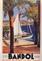 Cote d'Azur (Bandol) Framed Print