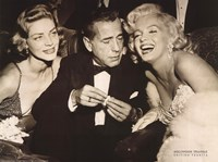 Hollywood Triangle (Bacall, Bogart, Monroe) Fine Art Print