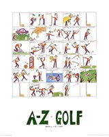 A-Z of Golf Fine Art Print