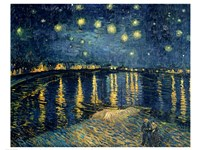 Starry Night over the Rhone, c.1888 Framed Print