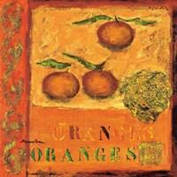 "Oranges by Francoise Persillon - 12"" x 12"""