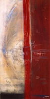 "Lignes Rouges II by Carole Becam - 20"" x 40"""