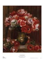 "Anemone Bouquet by Pierre-Auguste Renoir - 20"" x 27"""