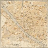 Mapa Di Firenze, 1896 Fine Art Print