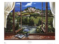 "Montecatini View by Dante Lorenzo - 37"" x 28"" - $24.99"