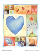 Big Blue Heart Fine Art Print
