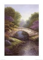 Springtime Bridge Framed Print