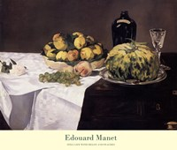 Still Life with Melons and Peaches Fine Art Print