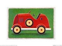 Red Racing Car Fine Art Print