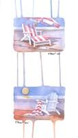 """Beach Chairs by Paul Brent - 4"""" x 8"""""""