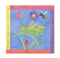 "Green Grasshopper by Paul Brent - 11"" x 11"""
