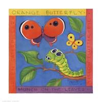 """Green Caterpillar by Paul Brent - 11"""" x 11"""""""