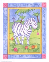 Munching Zebra Framed Print