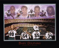 Baby Dolphins - Williams, Seau, Thomas, & Taylor Fine Art Print
