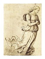 Sepia Woman Dancing Fine Art Print
