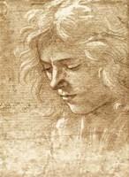 Sepia Maiden Fine Art Print