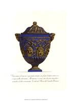 Blue Urn III Framed Print