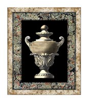 "Urn on Marbleized Background I by Richard Henson - 20"" x 24"""