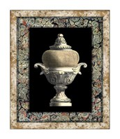 "Urn on Marbleized Background II by Richard Henson - 20"" x 24"""