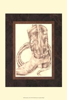 "Sepia Boots I (HI) by Jennifer Goldberger - 11"" x 14"" - $12.99"