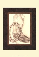 "Sepia Boots II (HI) by Jennifer Goldberger - 11"" x 14"" - $12.99"