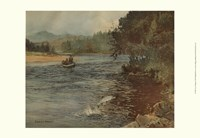 """Salmon Fishing by Ernest Briggs - 19"""" x 13"""""""