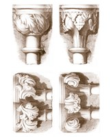 "Mini Stone Capitals by Jennifer Goldberger - 9"" x 12"""