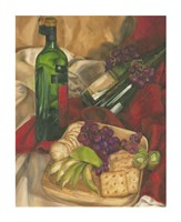 "Wine Indulgences I by Jennifer Goldberger - 11"" x 14"", FulcrumGallery.com brand"