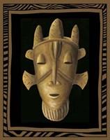 """African Mask II by Chariklia Zarris - 7"""" x 9"""""""
