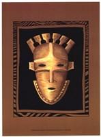 African Mask III Framed Print