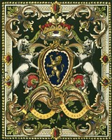 Crest on Black I Fine Art Print