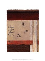 Asian Collage III Framed Print