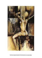 "Mini-Contemporary Seated Nude II by Jennifer Goldberger - 6"" x 10"""