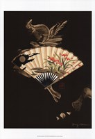Oriental Fan I Framed Print