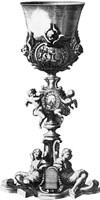 Black & White Goblet III (SC) Fine Art Print