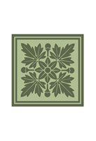 Tonal Woodblock in Green I Fine Art Print