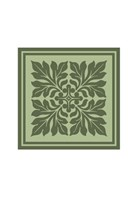 Tonal Woodblock in Green II Fine Art Print